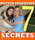 Mother with teen child telling 7 better parenting secrets