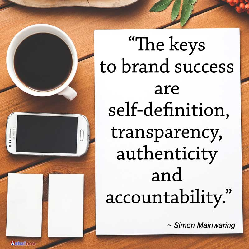 The keys to brand success quote