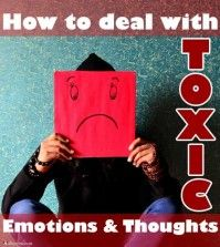 A girl Dealing with toxic emotions and thoughts
