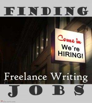 Finding freelance writing jobs
