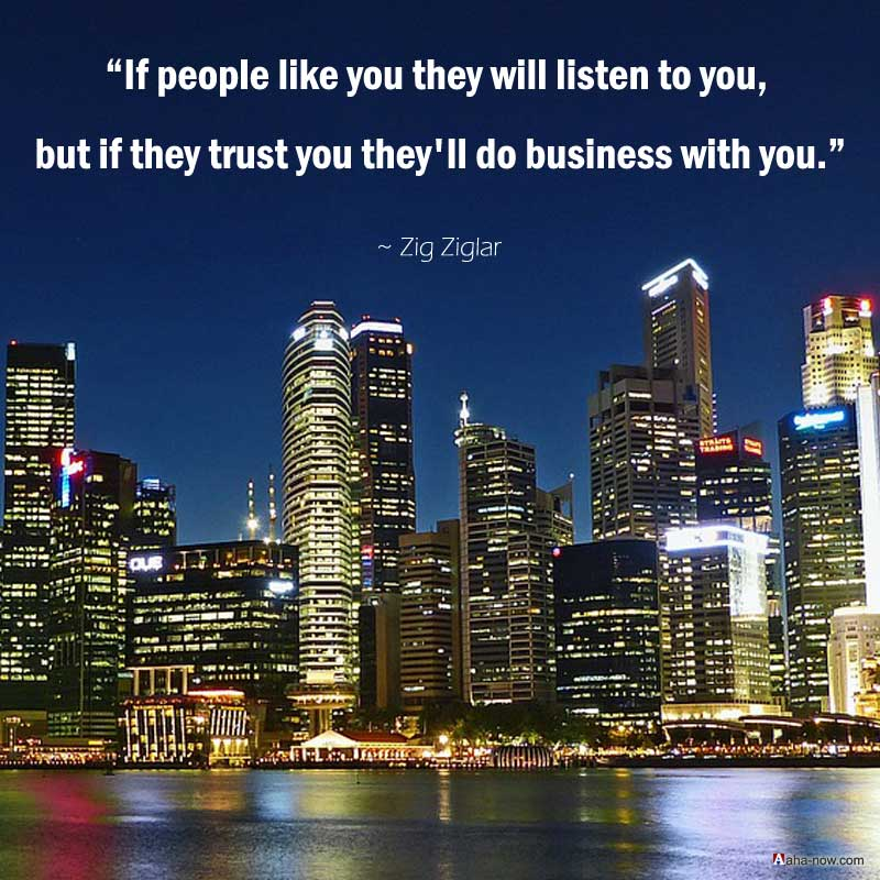 Trust is the key to success in business