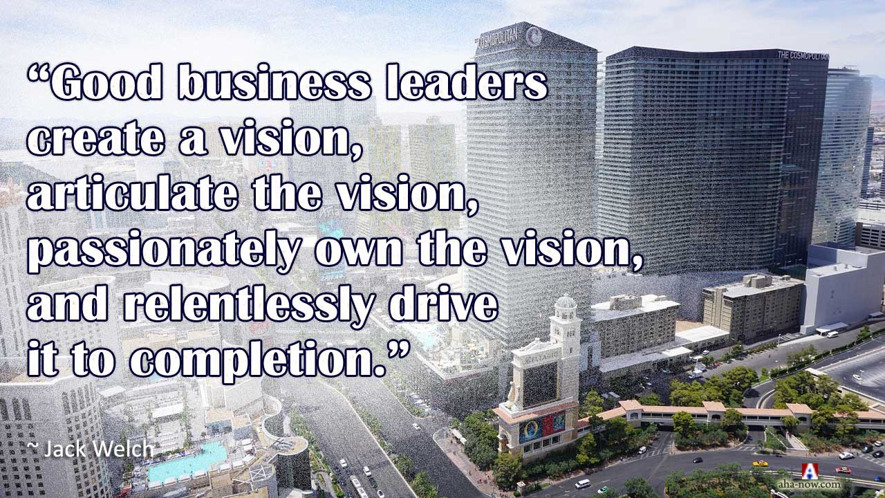 City of Las Vegas and a quote about the vision of business leaders