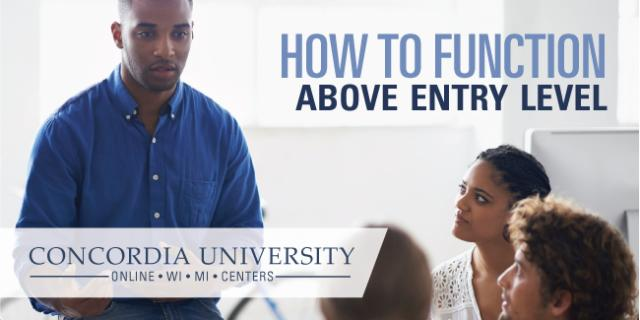 How to function above entry level Concordia course