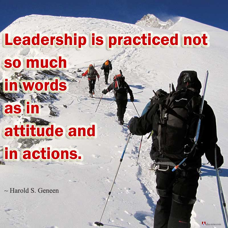 Learning leadership through attitude and action