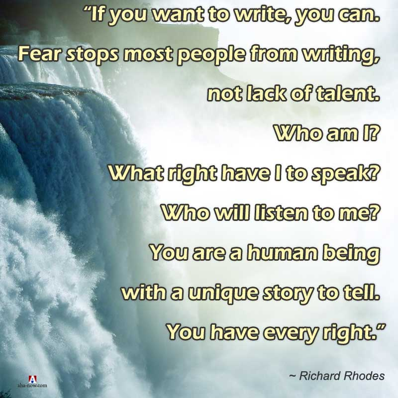 What stops a writer from writing a book
