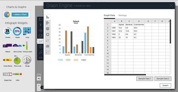 Visme chart tool