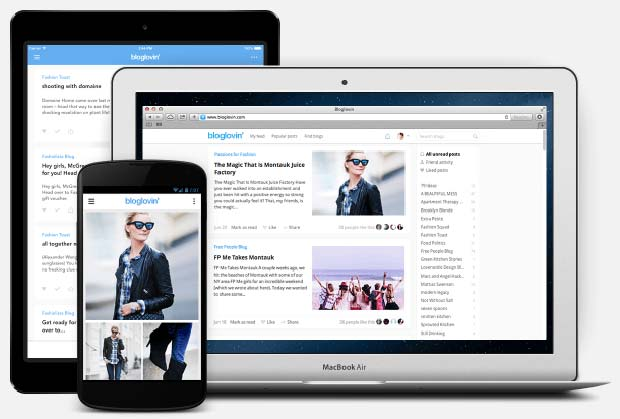 Screenshot of Bloglovin App