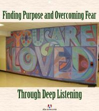 You are loved mural on wall for overcoming fear