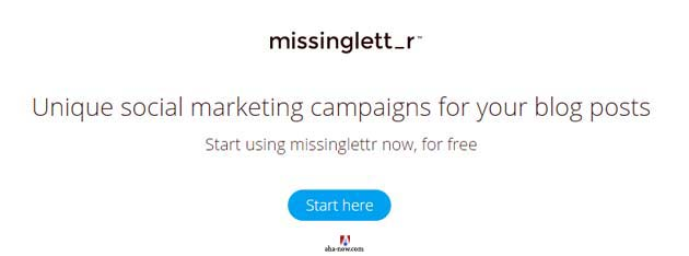 Missingletter social marketing campaign information
