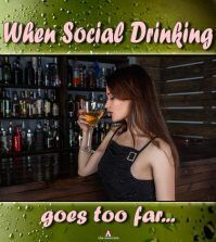 Girls drinknig shows social drinking problems in women