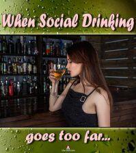 Girls drinknig shows social drinking problems in women