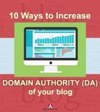 10 ways to increase domain authority (DA) of blog