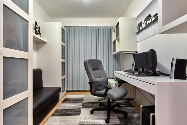 a separate place for office by partitioning the room