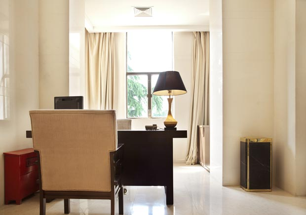 filtering noise at home office by putting thick curtains