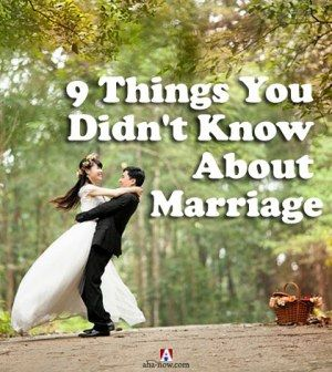 Understanding marriage and the things you do not know