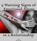 Woman making warning signs of emotional abuse