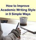 Student shows how to improve academic writing style