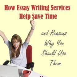 College student using essay writing services to save time
