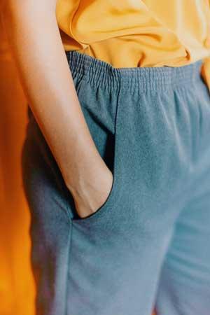 Man wearing high waist trouser