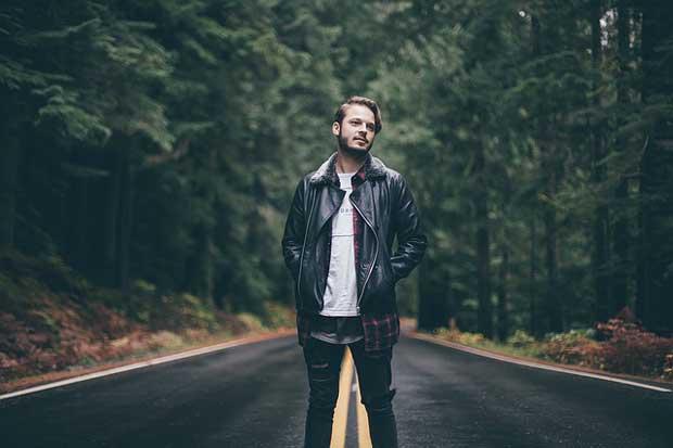 Man wearing a jacket