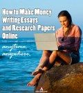 Girl learning to make money writing essays and research papers online