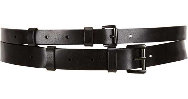 Double belt for men