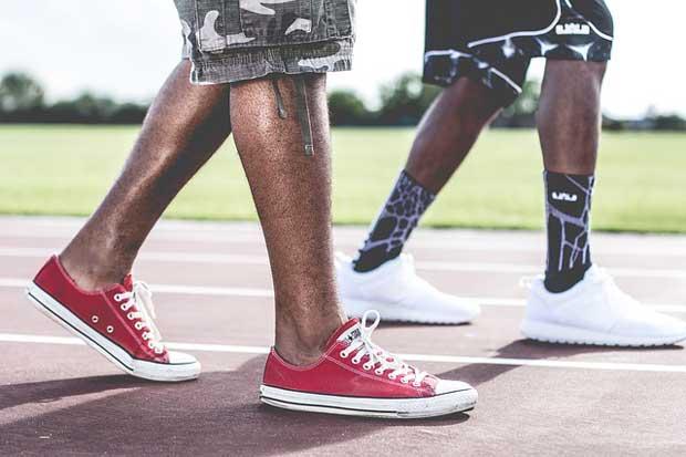 Men wearing shoes