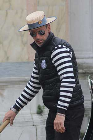 Man in stripes