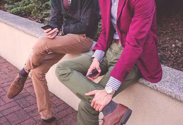 Men wearing trousers