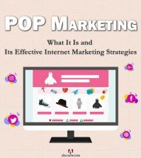 Advertising display shows POP Marketing for Internet strategies