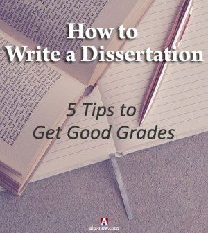 Poster on how to write a dissertation