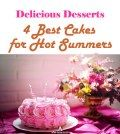 Image showing four best cakes for summers