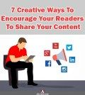 Poster about creative ways to encourage readers to share your content