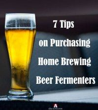 Beer glass with text about homebrewing beer fermenters