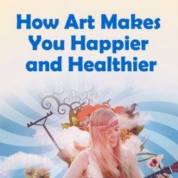 A girl guitarist shows how art makes you happy performing it