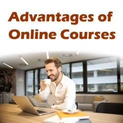 Man learning on laptop at home demonstrating advantages of online courses