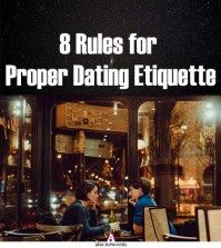 A couple on date in a restaurant following proper rules of dating etiquette