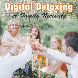 A group of family and friends digital detoxing on a picnic