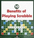 picture of scrabble board game with text 10 benefits of playing scrabble