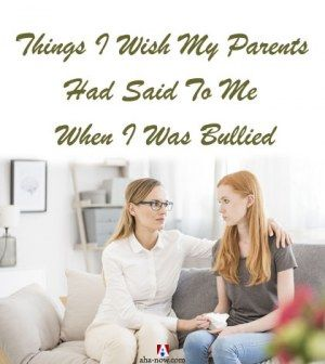 A gril who was bullied being consoled by her mother