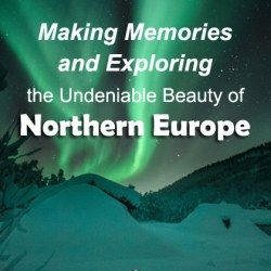 Photo of aurora borealis or polar lights of green color to make memories of northern Europe