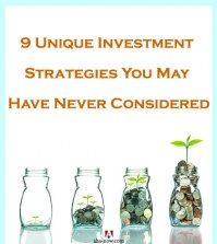 Four glass jars with coins and plants depicting investment strategies for beginners