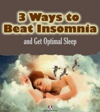 Woman sleeping in the clouds and three birds flying with the text 3 ways to beat insomnia