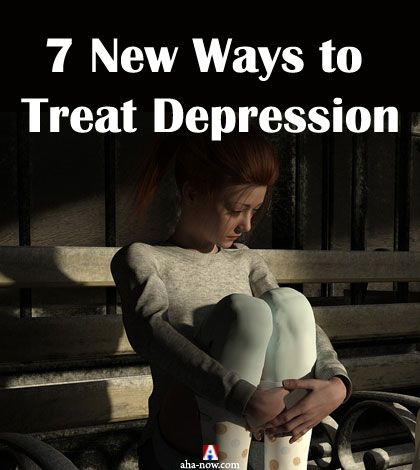 Depressed women sitting on a bench waiting for new ways to treat depression