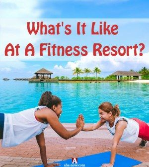 Girls exercising at a fitness resort