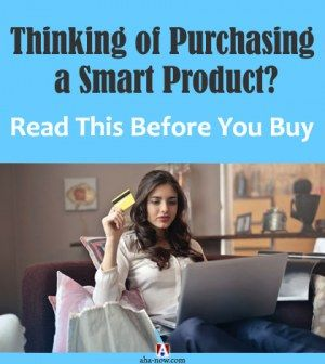Woman buying smart products on laptop