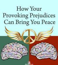 Prejudiced brains transforming into peace