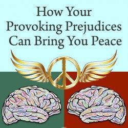 Prejudiced brains transforming into peace