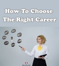 A business woman teaching how to choose the right career