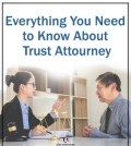A man and a woman lawyer discussing the process of hiring trust attorney